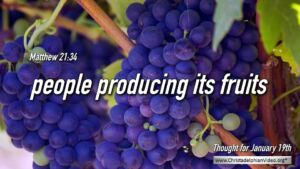 "Thought for January 19th. ""PEOPLE PRODUCING IT'S ..."""