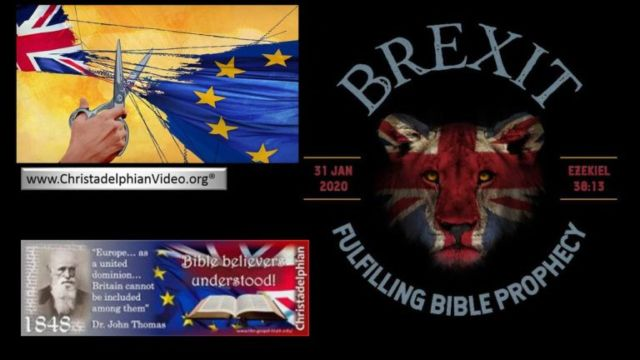 Brexit! Tarshish sets sail from Europe Faith of Bible believers vindicated