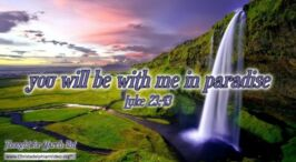 "Daily Readings & Thought for March 31st. ""YOU WILL BE WITH ME IN PARADISE"
