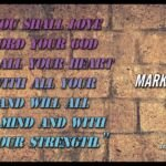Thought for February 16th. 'Love the Lord your God with all your soul, mind and strength…'