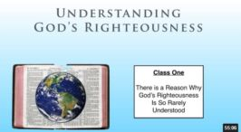 Understanding God's Righteousness Series