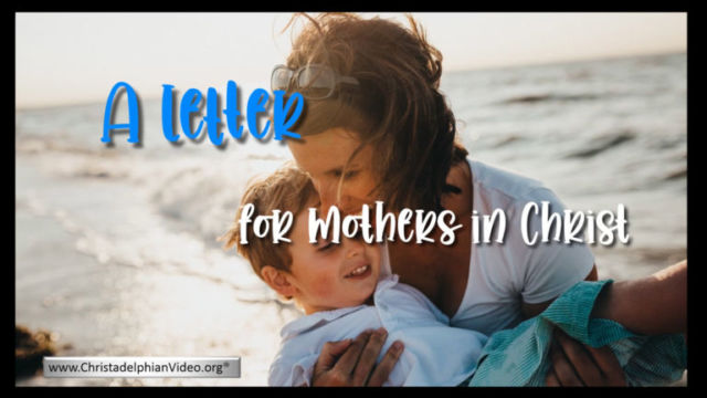 A Letter to Mothers in Christ...