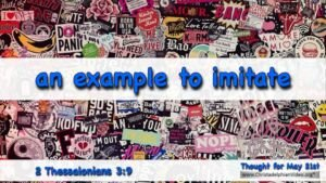 "Daily Readings & Thought for May 21st. ""… AN EXAMPLE TO IMITATE"""
