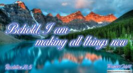 "Daily Readings & Thought for July 1st. ""BEHOLD I AM MAKING ALL THINGS NEW"""