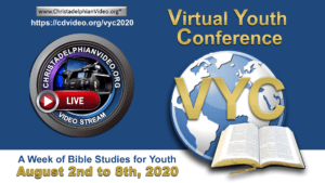 Virtual Youth Conference 2020: Sun 2nd-Sat 8th August