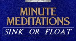 Minute Meditations: Sink or Float - R.J.Lloyd